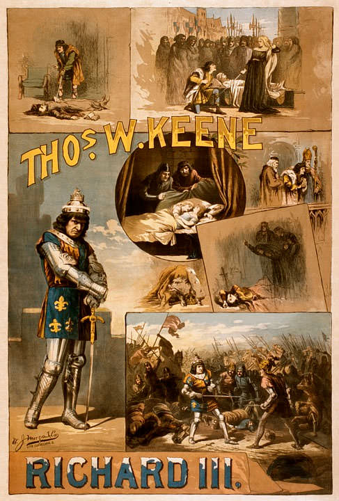 Уильям Шекспир Ричард Iii Плакат 1884 год
