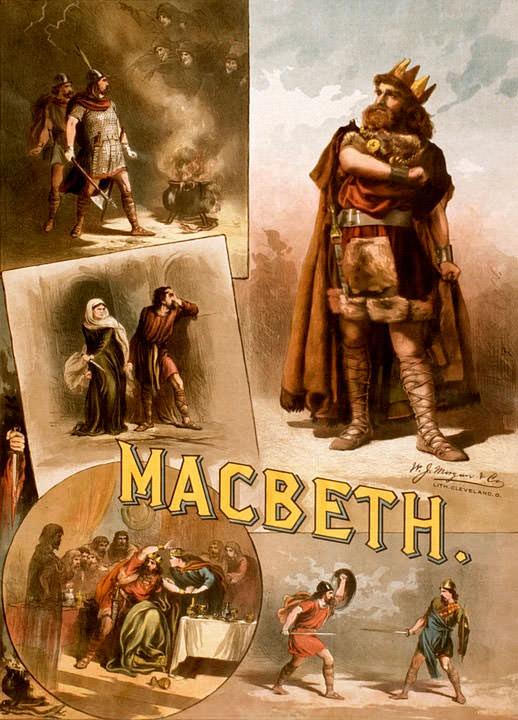 Уильям Шекспир Макбет Плакат 1884 год
